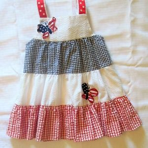Rare Editions Red White and Blue Dress Size 24 Mnh